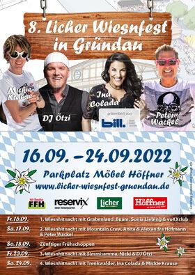 8. Licher Wiesnfest Gründau - 2. Wiesnhitnacht - Mountain Crew, Anita und Alexandra Hofmann & Peter Wackel