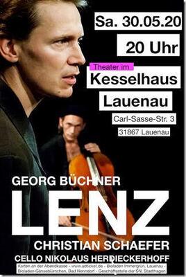Bild: Christian Schaefer spielt LENZ von Georg Büchner - Cello  Nikolaus Herdieckerhoff