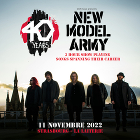 "New Model Army ""40 years - 3 hour show playing songs spanning their career"""