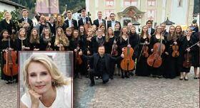 Bild: Tiroler Landesjugendorchester - Moderation: Eva Lind, Musikalische Leitung: Lui Chan