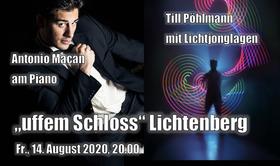 Bild: Antonio Macan & Till Pöhlmann - Piano & Lichtjonglage