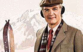 Bild: Ein Mann im Schnee - Weihnachten mit Erich Kästner
