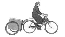 Bild: Die Frau mit der Seifenkiste