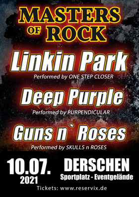 Bild: MASTERS OF ROCK - Tribute to GUNS `n ROSES, LINKIN PARK & DEEP PURPLE
