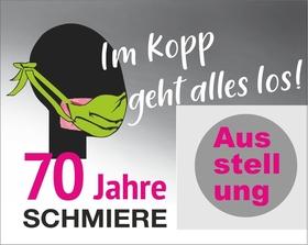 Bild: Schmiere-Ausstellung - Vom Wirtschaftswunder in die Pandemie – 70 Jahre Schmiere. 1950 bis 2020 unter Frankfurts Türmen