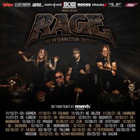 Bild: Rage - Wings of Rage Tour 2021