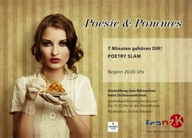 Bild: Poesie & Pommes - Corona-bedingt mit Abstand, aber leider ohne Pommes...
