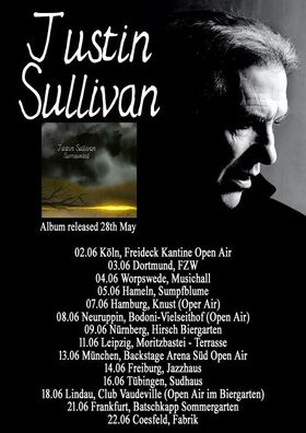 Bild: JUSTIN SULLIVAN Solo (New Model Army) - Surrounded Tour 2021