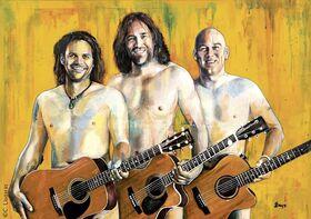 Bild: 3 Männer mit Gitarre