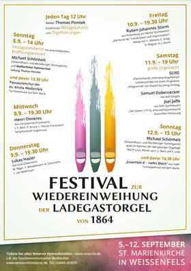 Bild: Festival zur Wiedereinweihung der Ladegastorgel von 1864 - Festival-Pass