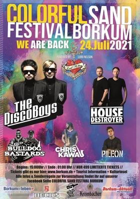 "Bild: ColorfulSand Festival Borkum 2021 - ""We're back – Party on"""