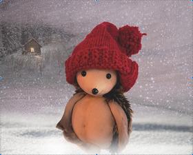 Bild: Der kleine Igel und die rote Mütze