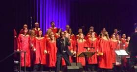 Bild: Freiburg Gospel Choir mit Malcolm Green Reloaded