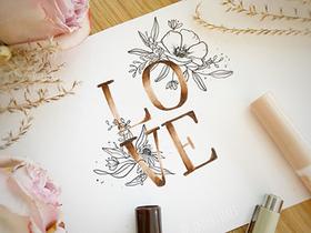 Bild: Handlettering Valentinstagskarten
