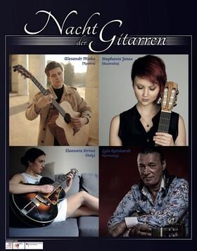 Bild: Nacht Der Gitarren - feat. Lulo Reinhardt (Deutschland), Alexandr Misko (Russland), Stephanie Jones (Australien), Eleonora Strino (Italien)