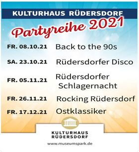 Bild: Partyreihe 2021 im Kulturhaus Rüdersdorf - Halloween Party 2021