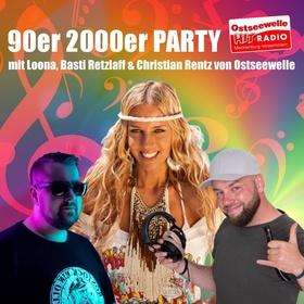 Bild: Pre-Silvester 90er 2000er Party mit Loona - mit Basti Retzlaff und Christian Rentz von Ostseewelle