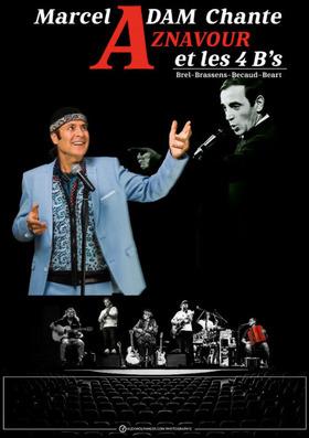 "Bild: Marcel Adam - Charles Aznavour et les 4 ""B"""