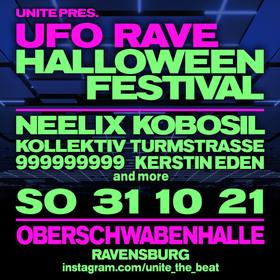 Bild: UFO RAVE / HALLOWEEN FESTIVAL - The Giant Monster Bash