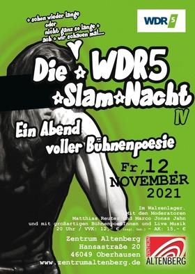 Bild: WDR5 Slamnacht - Ein Abend voller Bühnenpoesie