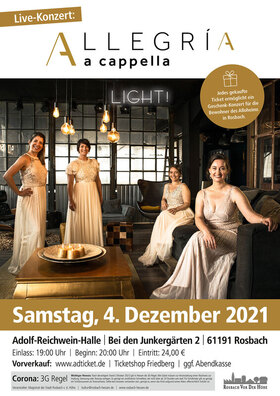 Bild: Allegria a capella Weihnachtskonzert - Light!