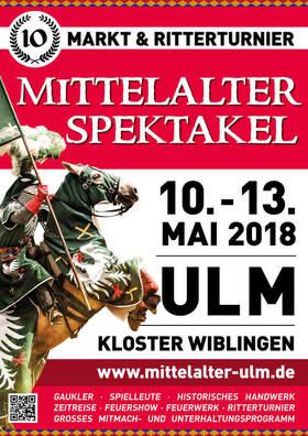 Bild: Mittelaltermarkt zu Ulm - Ritterspiele - Ritterturnier 13.00 Uhr oder 17.00 Uhr