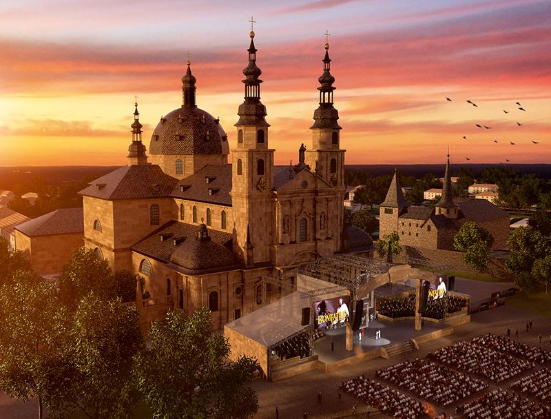 """Führung: Ein Blick hinter die Kulissen von """"Bonifatius – Das Musical"""" - Fulda"""