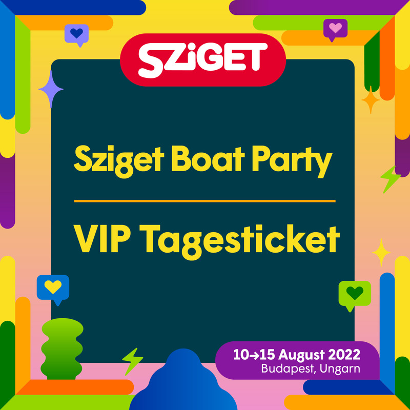 Sziget Boat Party VIP - Day Ticket - Sziget Boat Party - VIP Sonntag Ticket