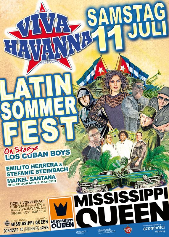 VIVA HAVANNA - 1 Abend KUBA PUR ! - Sommerfest auf dem Schiff!