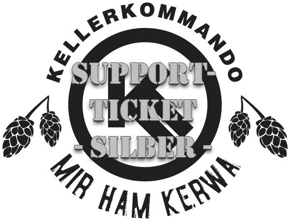 Kellerkommando Mir ham Kerwa Support-Ticket Silber