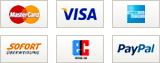 Reservix Payment methods, MasterCard, Visa, American Express, Instant bank transfer, Direct debit, PayPal