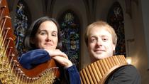 "Bild: Virtuose Panfl�te - Panfl�te und Harfe (Schlubeck / Moret�n) - Konzert zum Jubil�um ""150 Jahre Gengenbacher Franziskanerinnen"""