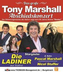Bild: Tony Marshall Abschiedskonzert - mit den Ladinern, Pascal Marshall und Nicol Stuffer