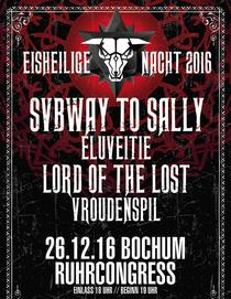 Bild: EISHEILIGE NACHT 2016 - SVBWAY TO SALLY - ELUVEITIE, LORD OF THE LOST, VROUDENSPIL