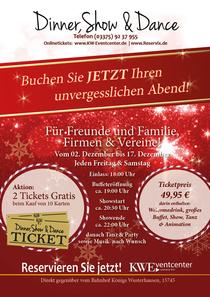 Bild: Dinner, Show & Dance Weihnachtsfeier - Dinner, Show & Dance