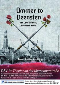 Bild: �mmer to Deensten (Der Diener zweier Herren) - Plattdeutsche Kom�die nach Carlo Goldoni; Regie Kristian Amtsberg