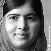 Bild: Malala - M�dchen mit Buch - von Nick Wood