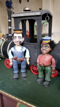 Bild: Jim Knopf und Lukas, der Lokomotivführer