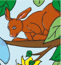 Bild: Das kleine Känguru und der Angsthase -  Alter: 5 Jahre ± 2 Jahre - für Gruppen aber auch Einzelpersonen sind willkommen