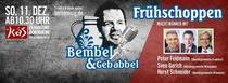 Bild: Bembel und Gebabbel - Der Talk mit Bernd Reisig - Macht-Männer - mit Peter Feldmann, Sven Gerich und Horst Schneider
