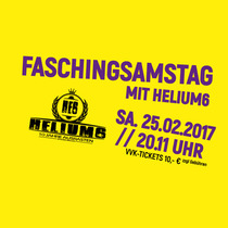 Bild: Faschingsamstags-Party - mit Helium6 live & den Culture Club DJ's