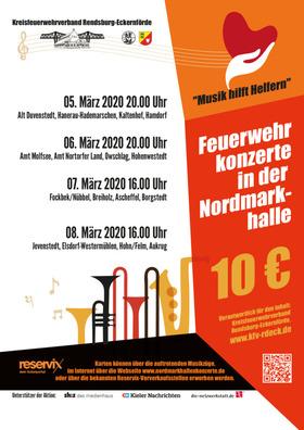 Bild: Nordmarkhallen-Konzerte - der Feuerwehr Musikz�ge des Kreises Rendsburg-Eckernf�rde