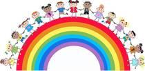 Bild: Die Farben des Regenbogen - schwarz-weiß ist out