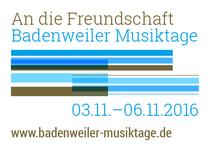 Bild: Badenweiler Musiktage Herbst 2016 // 04. November