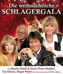 """Bild: """"Weihnachtliche Schlagergala"""" - mit Monika Hauff & Klaus-Dieter Henkler, Uta Schorn, J�rgen Walter und T�nzern des ehem. MDR-Fernsehballetts"""