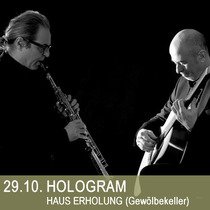 Bild: HOLOGRAM - Edoardo Bignozzi (Gitarre)   Francesco Consaga (Sopransaxophon)
