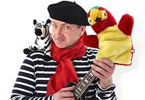 Bild: Dirk Pursche pr�sentiert: Fridolin Farbenfroh - Zebra und Papagei