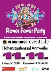 Bild: Flower Power Party - pr�sentiert von CLUBHORSE-events.de