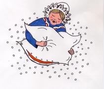 Bild: Frau Holle - Weihnachtsm�rchen von Marianne Opterwinkel frei nach Gebr�der Grimm