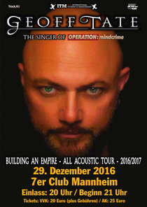 Bild: GEOFF TATE - The Voice Of Operation:Mindcrime - Acoustic Tour 2016